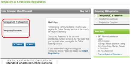 online banking project charter